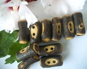 10 Wooden Buttons -  Russian Olive Tree Branch Toggle Buttons - 1 7/8 Inch - Perfect for Scarves, Sweaters, Cowls, Journals or Scarves