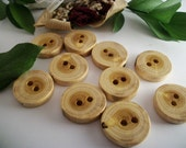 Mulberry Wood Buttons - Michigan Made Tree Branch Buttons  - Lot of 10 - 1 1/8 Inch (29 mm) for Accessorizing pillows, journals, mug cozies