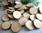 35 Wood Blanks - Natural Michigan Ash Tree Wooden Tree Branch Blanks 1 - 1 1/8 Inch - for artists, crafts, woodburning