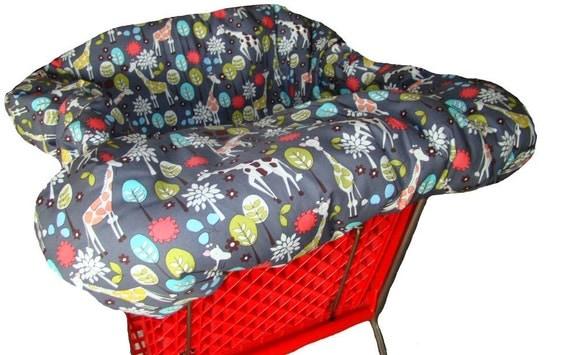 Shopping Cart Cover For Baby Or Toddler Girl Or Boy Giraffe