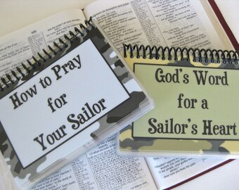 How to Pray for Your Sailor/God's Word for a Sailor's Heart - PERSONALIZED Combo Set, Spiral-Bound, Laminated Cards