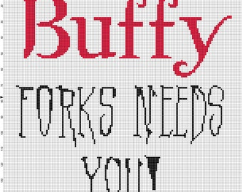 ATM: Buffy Cross Stitch Pattern - Professional Pattern Designer and Artist Collaboration