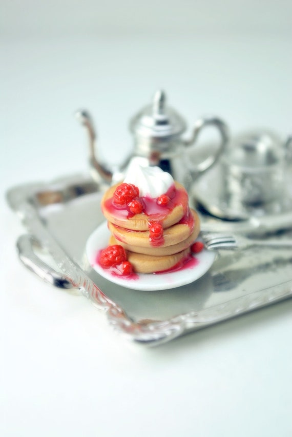 Heavenly Pancakes Ring in Miniature Polymer Clay Food Jewelry