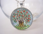 Tree of Love Handpainted Necklace