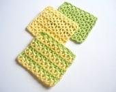 Chevron Crochet Coasters - Set of 3