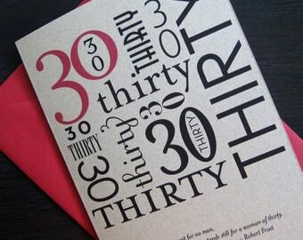 thirty birthday card