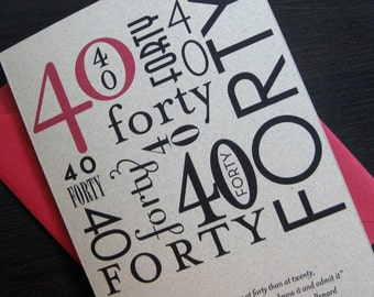 forty birthday card