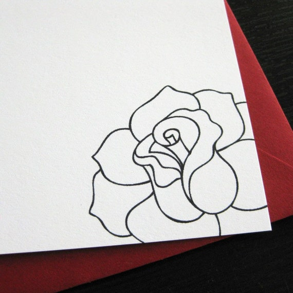 a rose is a rose notecards