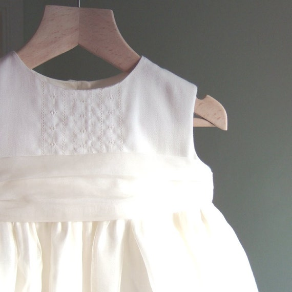 christening gown in cotton and silk ... delicately embroidered vintage style ... the YORK