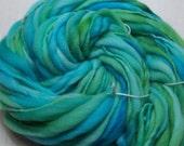 Handspun Hand Dyed Merino Thick n Thin  - Neptune