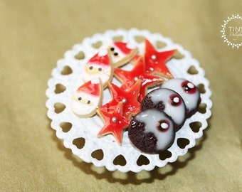 Christmas Cookies and Candy - 1/12 scale miniature