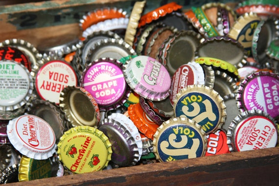 BLOWOUT Buy one get one Free Lot of Bottle Caps (50) for Mixed Media Altered and Folk Art