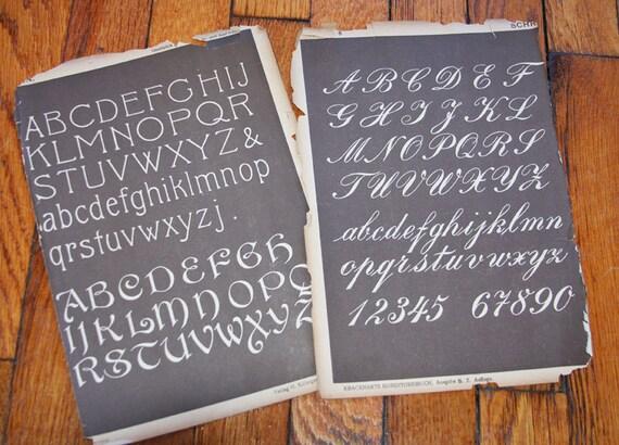 Antique PENMANSHIP Cursive Writing Book pages