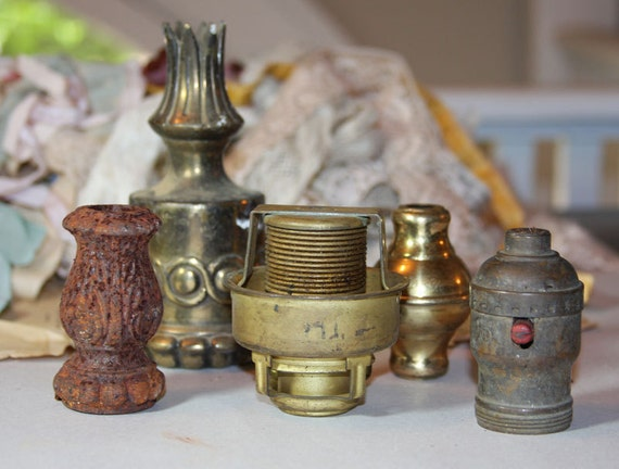 Vintage LAMP PARTS for Assemblage Robots or Decor