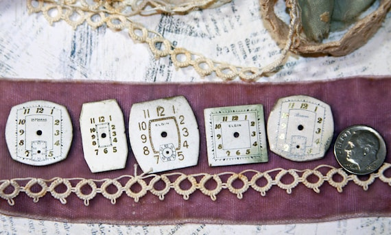 Vintage WATCH Faces (6) for Steampunk and Altered art