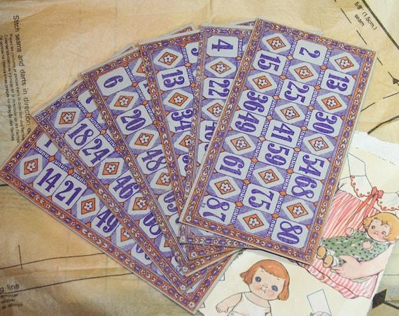 Vintage ornate BINGO CARDS