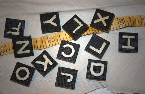 Vintage Game Pieces (12) for Mixed Media and Altered Art