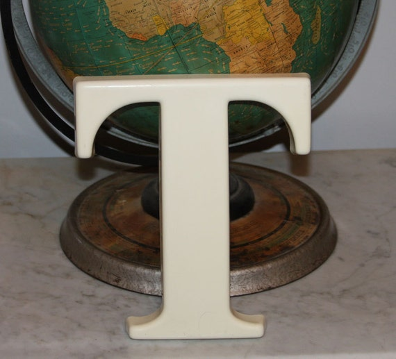 Letter T Cream Colored sign letter
