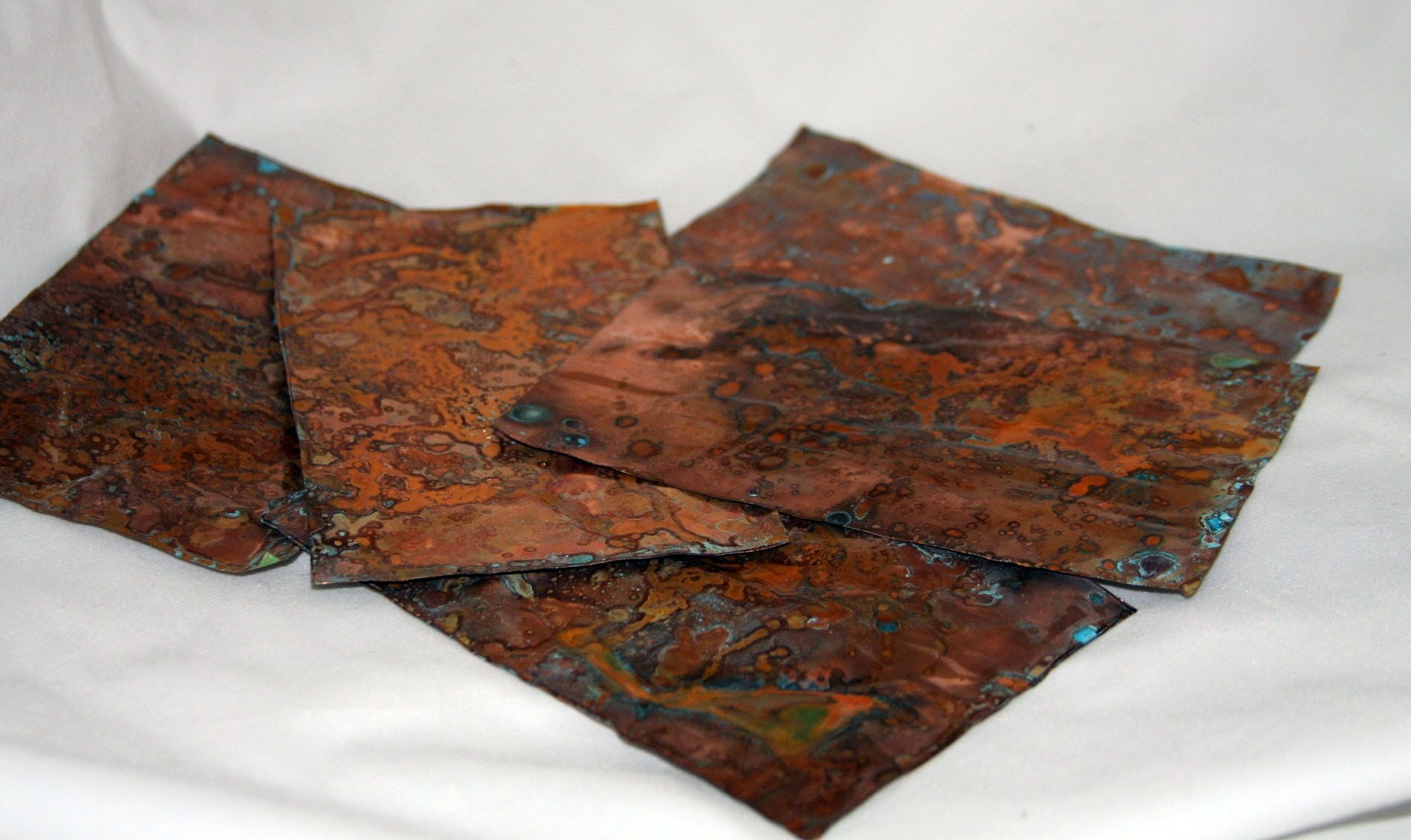Distressed Copper Thin Sheet For Mixed Media By