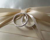 Two Faux Rings for Your Ring Pillow in Gold or Silver