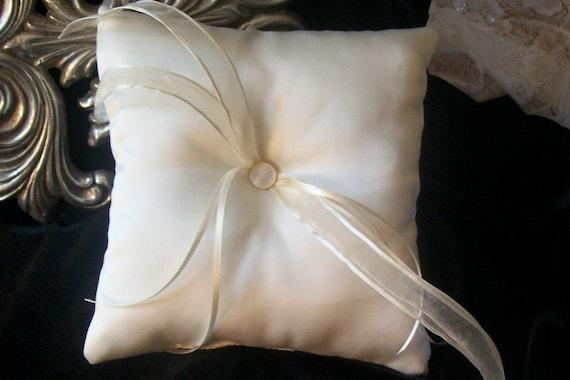 Ring Bearer Pillow in White Satin