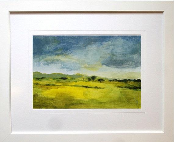 Original landscape painting, Van Hulle