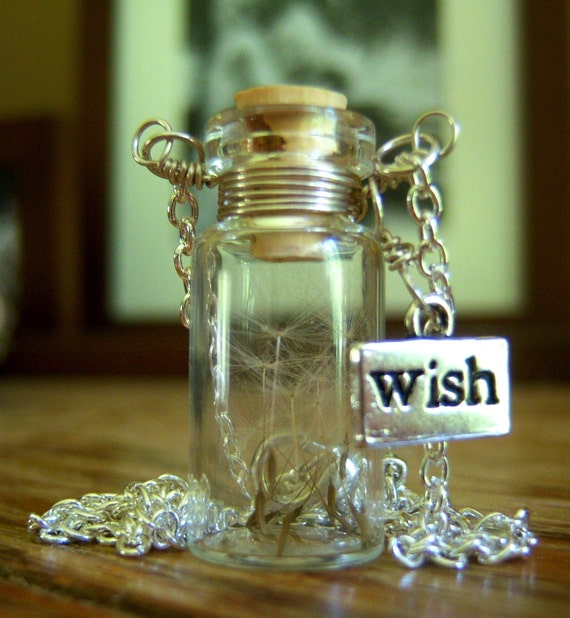Make A Wish - Dandelion Seed Glass Vial Pendant