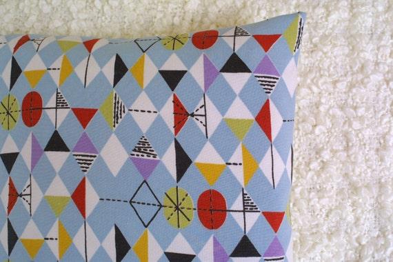 Vintage Marian Mahler Geometric cushion cover