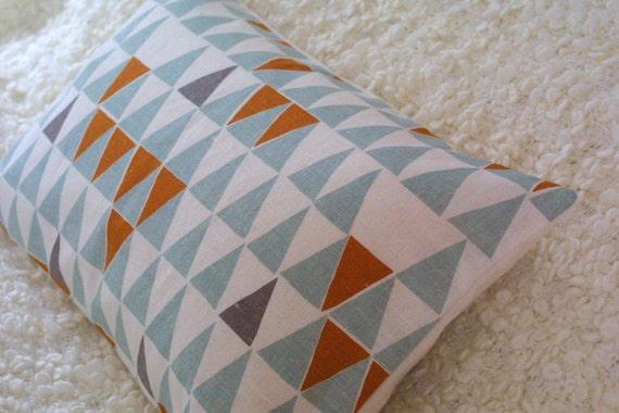 Blue Geometric bolster cushion cover