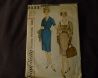 Vintage 1967 Simplicity One Piece Dress SewingPattern3533