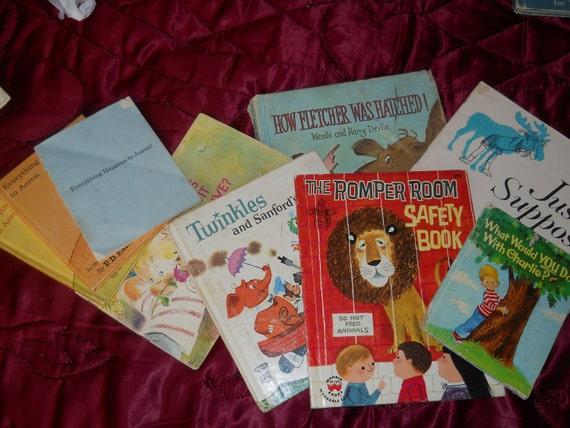1960s Lot of 9 BOOKS Children AARON  CHARLIE Fletcher