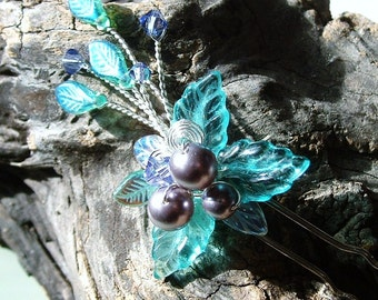 Mermaid Garden Wedding Hair Pin Fascinator Flower Stick