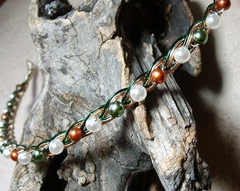 Irish Celtic Pearl Circlet Headband Tiara