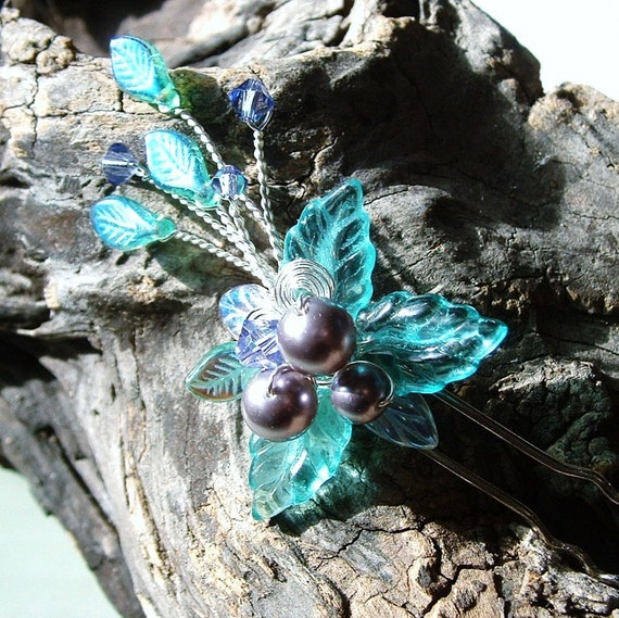 Mermaid Garden Wedding Hair Pin Fascinator Flower Stick
