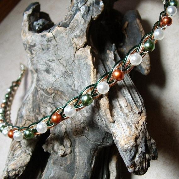 Irish Celtic Pearl Circlet Headband Tiara
