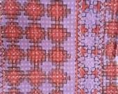 Hand block print bedspread table cover multi-use textile 56x86 Single