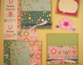 Premade Scrapbook Pages - 12x12 Layout - When U know how to B happy U know ENUF