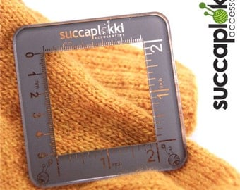 Silmuccaruutu -Knitting Gauge Checker