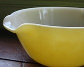 RESERVED FOR ERIN Wonderful FireKing Yellow Mixing Bowl