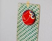 SALE red retro magnet