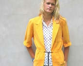 vintage SCHOOL BUS yellow slouchy blazer. M/L