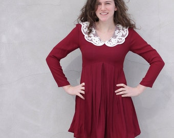 vintage RASPBERRY and lace mini S/M