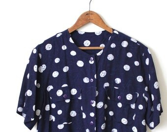 vintage POLKA DOTS blouse.