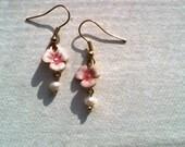 Pink Posy Earrings