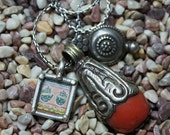 Coral Healing Stone Talisman Necklace