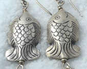 Sweet Pisces - Silver Hill Tribe Fish Earrings