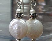Winter White Freshwater Pearl Earrings