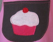 Chocolate Cherry Cupcake - Half Apron