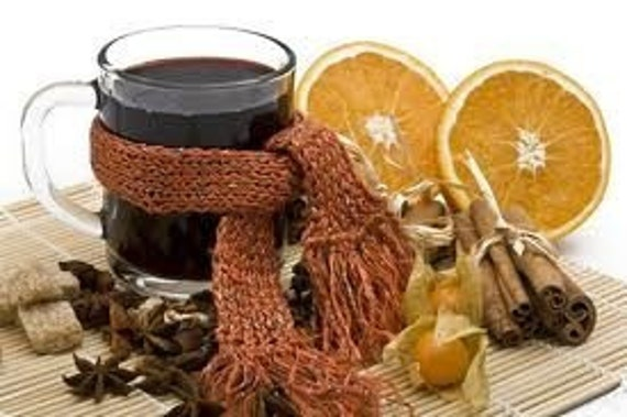 Old Fashion Mulled Cider or Wine Blend-Jar-Star Anise, Cinnamon & Ginger make this a Holiday Special