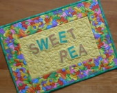 Sweet Pea Premium Mini-Quilt Placemat